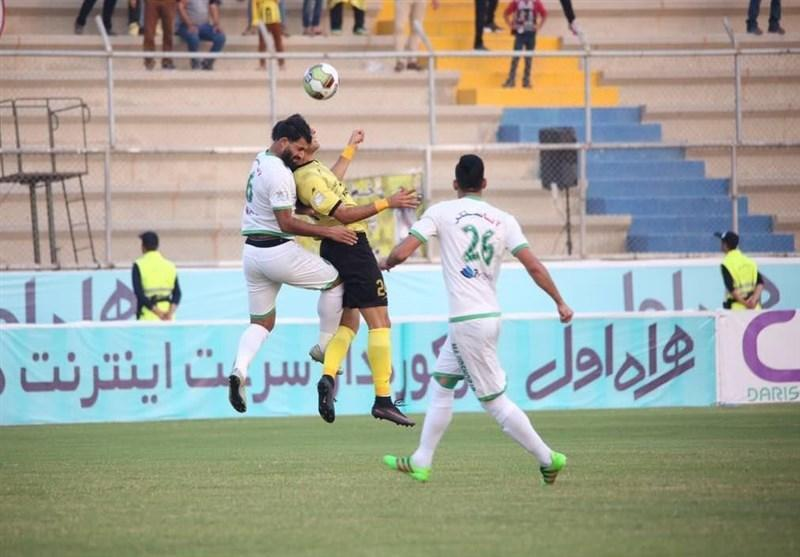 جام حذفی فوتبال، تساوی ماشین سازی و داماش در نیمه اول