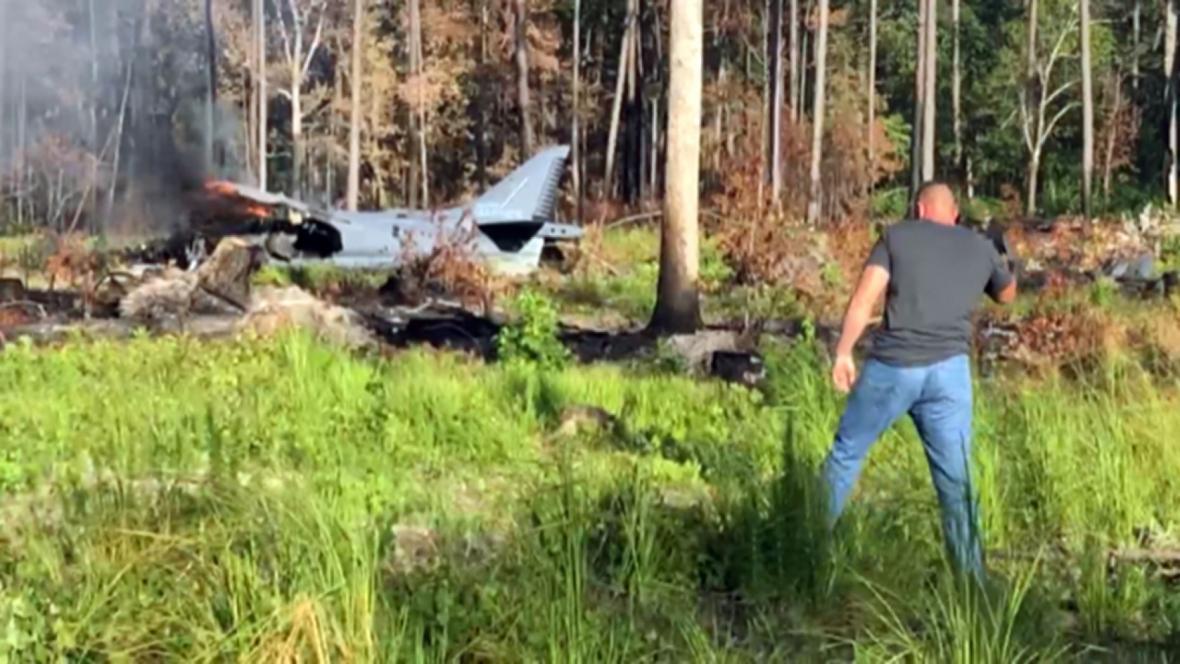 سقوط یک جت تهاجمی تفنگداران آمریکایی در کارولینای شمالی