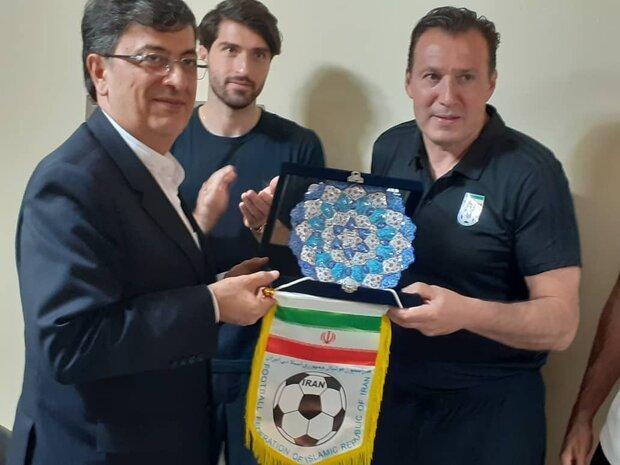 حضور اعضای تیم ملی فوتبال در ضیافت سفارت کشورمان در سئول